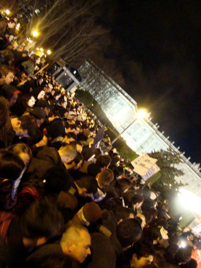 """Cada vez más gente en la protesta contra la """"Ley Sinde"""""""
